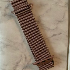 Rose gold iwatch band 38M